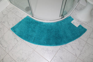 Teal Curved Shower Mats