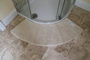 Microfibre Non Slip Large Curved Shower Mat