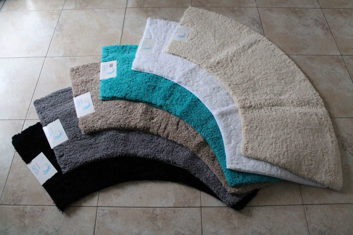 Microfibre Non Slip Large Curved Shower Mat Cazsplash