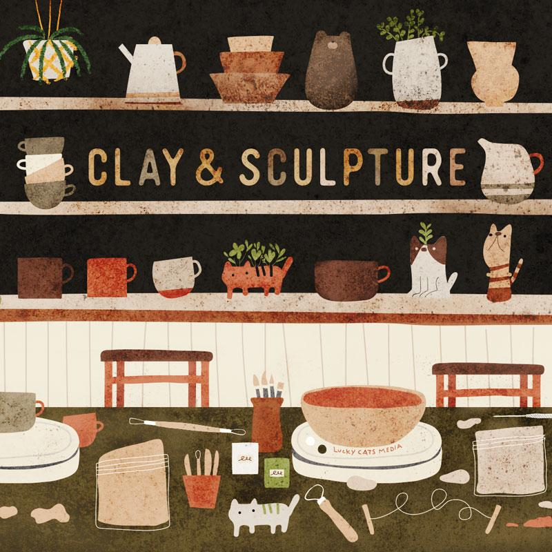 Ages 6-12 | Clay and Sculpture | 6 Week Specialty Class