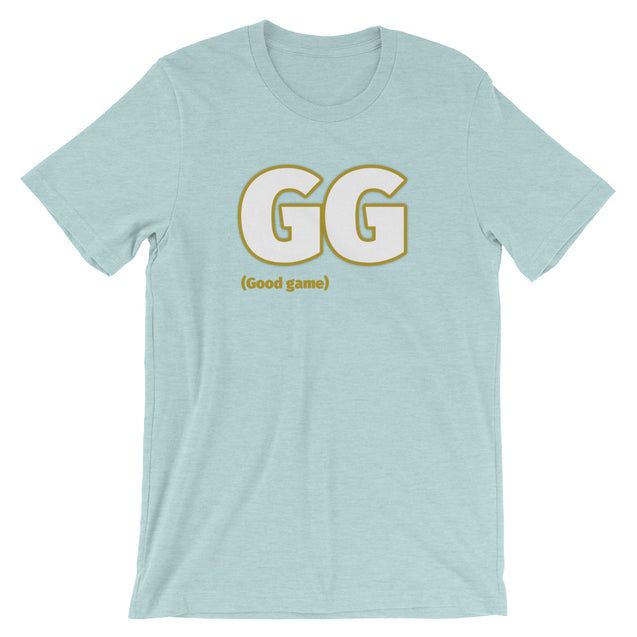 GG! Good game Short-Sleeve Unisex T-Shirt | Heather Prism Ice Blue / 3XL | Nerd Royale