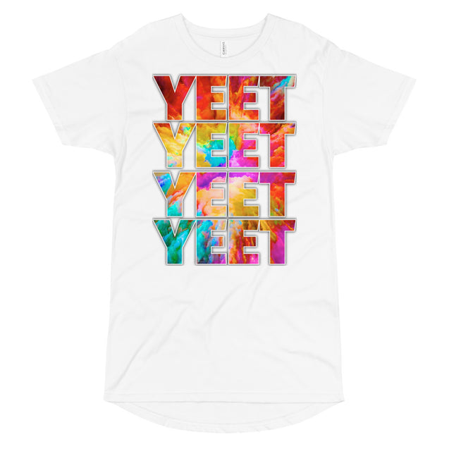 YEET! Long Body Urban Tee | White / XL | Nerd Royale