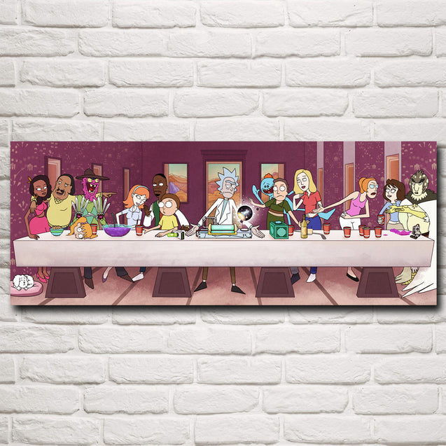 The Last Supper Silk Poster Print