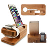 Bamboo Wood Charger Station for Apple Watch and iPhone | Nerd Royale