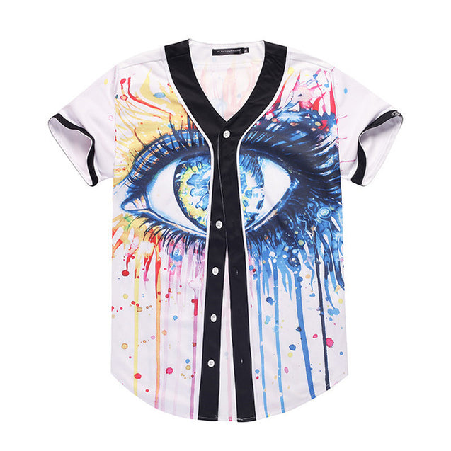 Painted Eye Baseball Jersey | Nerd Royale