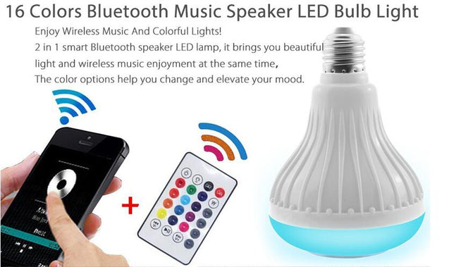 Wireless Bluetooth Speaker Bulb | Nerd Royale