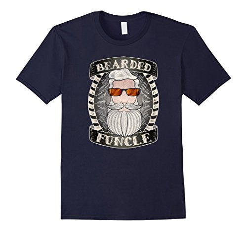 bearded funcle navy t shirt | Nerd Royale