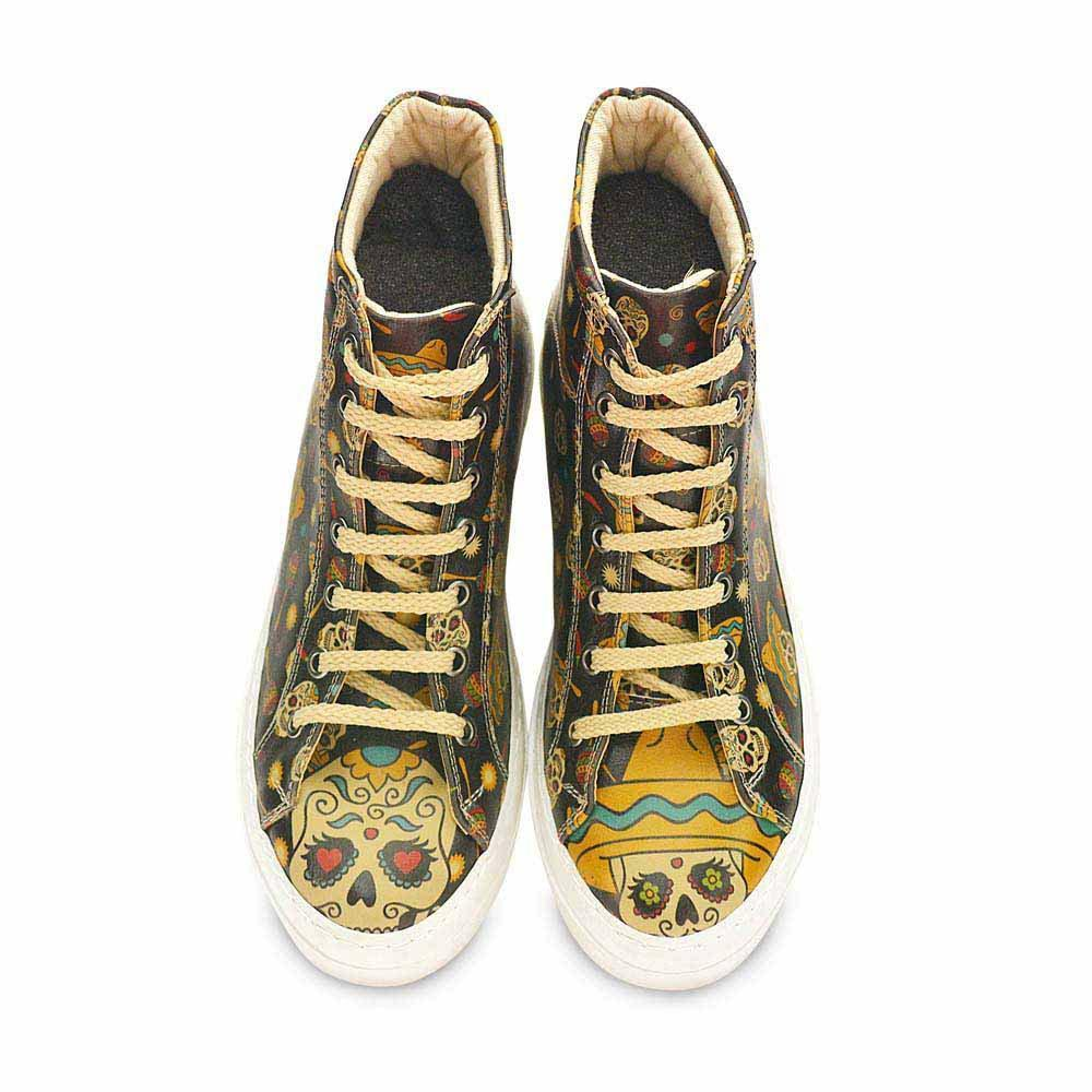 035c2d742b1f GOBY Women s Shoes   Sugar Skull High Top Sneakers Boot   CW2018 ...