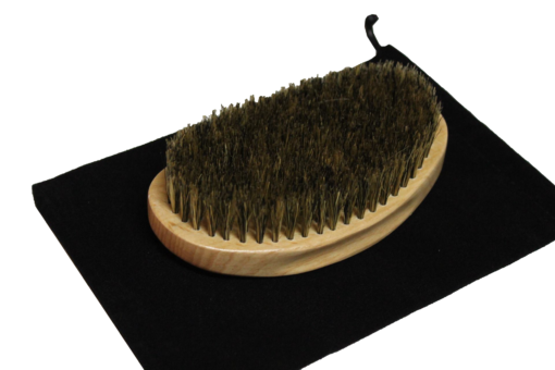 Smooth Stylz 360 Wave Brush – Tan with Black Bag | Soft Bristle
