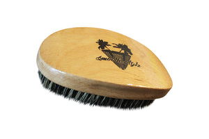 Smooth Stylz 360 Wave Brush Tan | Soft Bristle