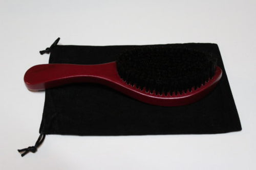 Smooth Stylz 360 Wave Brush / with Black Carry Bag | Burgundy w Medium Bristle