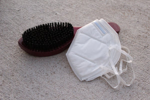 Combo Pack - Burgundy brush + 2 KN95 mask