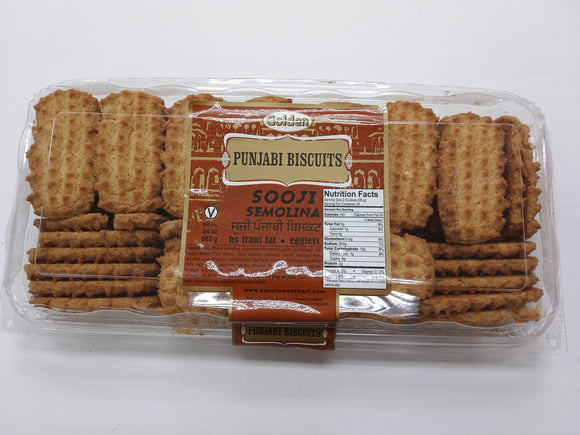 Golden Sooji Semolina Punjabi Biscuits 24oz