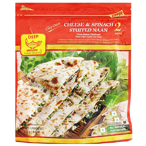 Deep Cheese and spinach Naan 2pc