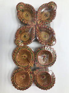 Diya brown pack of 4