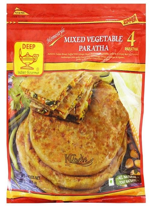 Deep Mixed Vegetable Paratha 4pcs