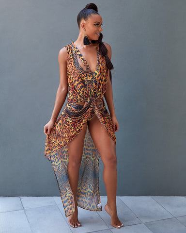 The Runaway Bay Mesh Cover Up Dress
