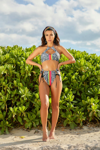 The Malaya Tropical Floral Thong Monokini