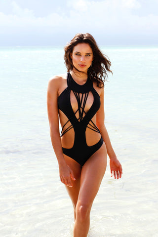 The Aria Mesh Wrap Monokini
