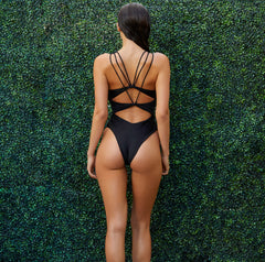 The Blake Lace Up One Piece - keva J swimwear Monokini - women's swimwear