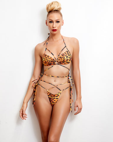 The Black Panther Lace Up One Piece