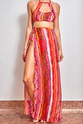 The Lemur Cover Up  Wrap Around Pants Set