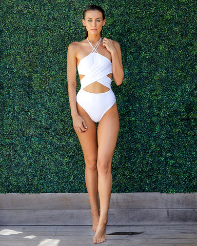 The Hibiscus Cut Out One Piece