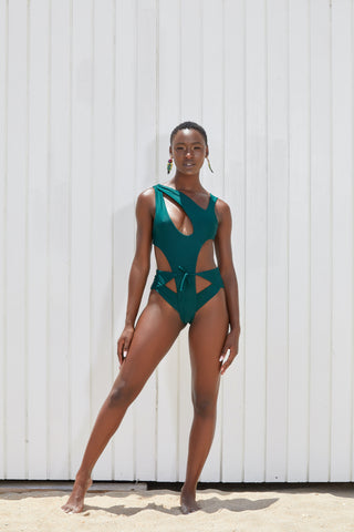 The Malaya Neon Cheeky Monokini