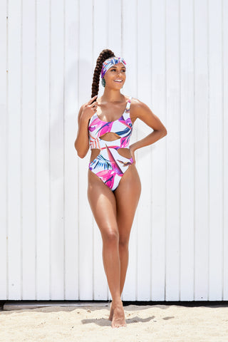The Malaya Tropical Floral Cheeky Monokini