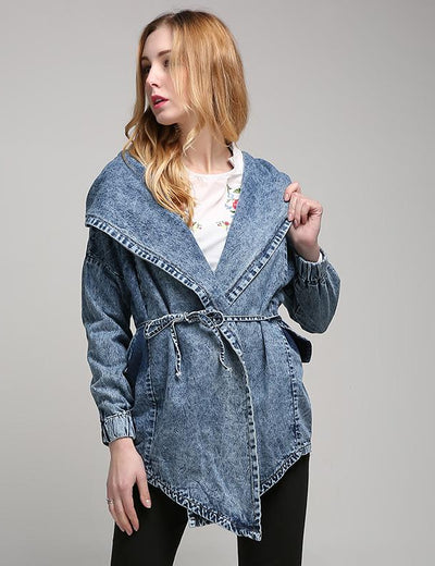Loose Hooded Denim Jacket - Everyday Denim