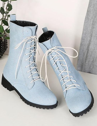 Mid Calf Denim Boots - Everyday Denim