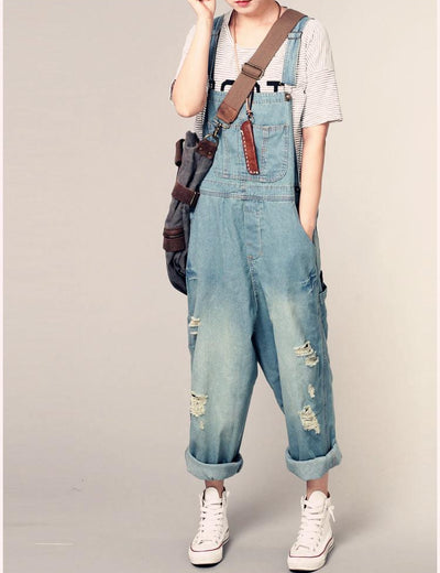 Retro Ripped Dungarees - Everyday Denim