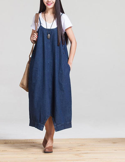 Convertible Denim Romper Dress - Everyday Denim
