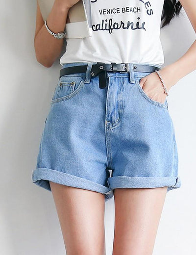 High Waist Denim Shorts - Everyday Denim