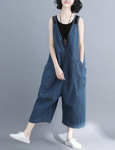 Wide Leg Denim Overalls - Everyday Denim
