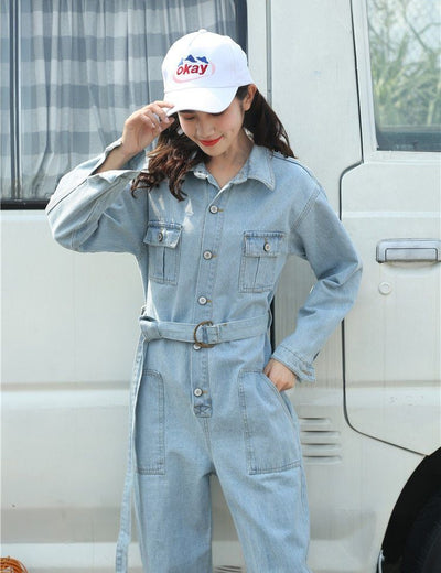 Loose Fit Denim Boiler Suit - Everyday Denim