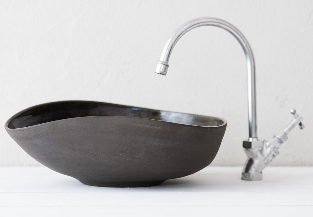 Handmade Black Imperfect Artistic Sink