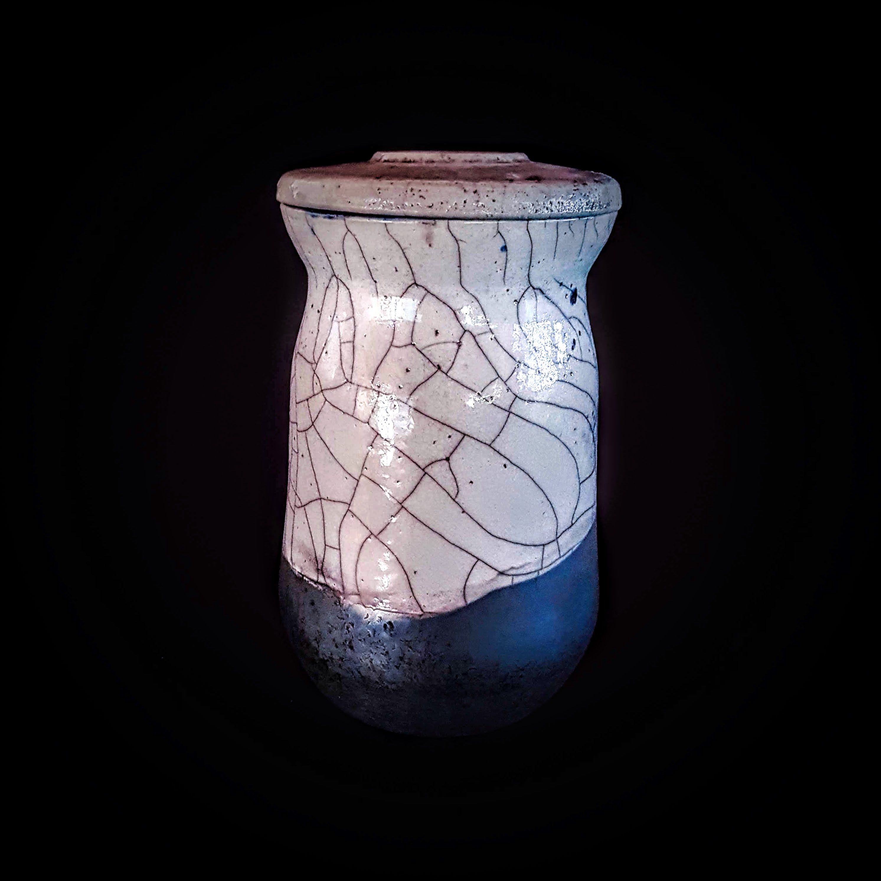 Borders Cremation Urn, Hand Crafted unique Urn by Naiim pottery.