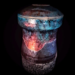 Handmade Cremation Urn, Hand Crafted artistic unique by Naiimpottery.