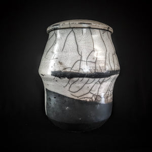 Black & White Unity Cremation Urn, Hand Crafted unique Urn by Naiim pottery.