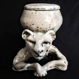 Lion Keepsake Artistic Ceramic Pet Urn