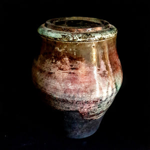 Purple Pearl Artistic Unique Raku handcrafted Urn by Naiimpottery