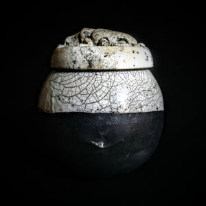 Ancient Scarab Beetle Raku Ceramic Urn | Modern Artistic Urn | Urn for Human or Pet Ashes | Cremation Urn for Your Loved One
