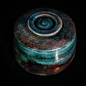 Turquoise Sea Shell Ceramic Pet Urn | Handmade Keepsake Urn for Pets | One-of-a-Kind Raku Urn | Modern Urn | Urn for Dogs | Urn for Cats