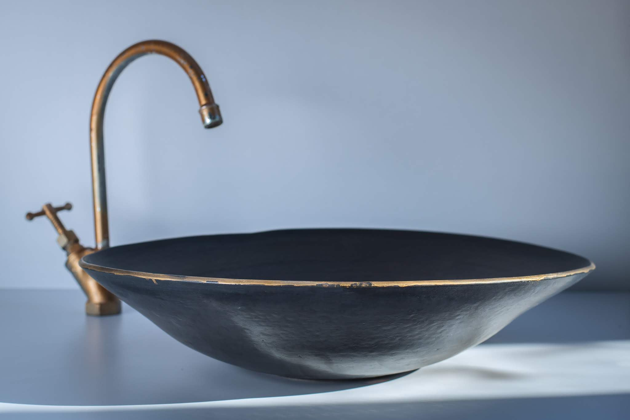 Black Star Handcrafted Sink by Naiimpottery