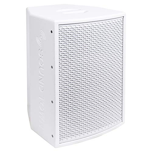 "KALE-110WPW <br/> 10"" 1000W Powered DJ PA Speaker w/ Bluetooth, Titanium Compression Driver, 3-Channel Mixer, White"