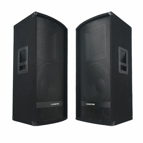 "METIS-115-PAIR<br/>METIS Series 2-Pack 15"" 700W 2-Way Full-Range Passive DJ PA Pro Audio Speaker with Compression Driver for Live Sound, Karaoke, Bar, Church"