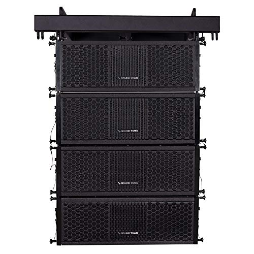 ZETHUS Series Line Array Speaker System with Four Compact 2 X 5-inch Passive Line Array Speakers, Black for Installation, Live Sound, Bar, Club (ZETHUS-205V2X4)
