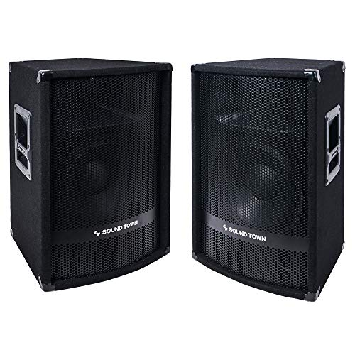 "METIS-112PW-PAIR<br/>METIS Series 2-Pack 12"" Powered 600 Watts DJ/PA Speakers with Compression Drivers for Live Sound, Karaoke, Bar, Church"