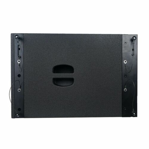 "Sound Town ZETHUS-212S ZETHUS Series Dual 12"" 1200W Line Array Subwoofer, Black - Side Panel with Handle"